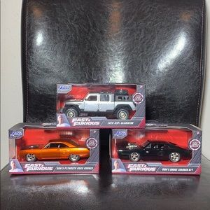 3x 2020 Fast & Furious Die Cast 1:32 Scale New